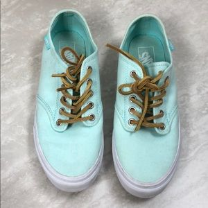 Vans Mint Green with Leather Laces